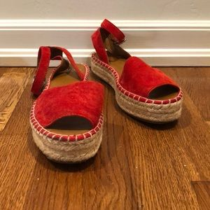 Franco Sarto Red Espadrille Sandals